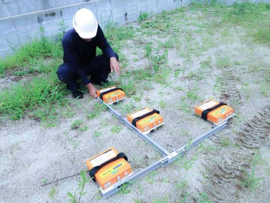 地盤調査現場写真